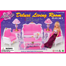 case for barbie toys accessories home accessories sofa set toys children play house sofa chair coffee table lamp suit