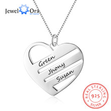 Personalized Heart Name Necklaces for Women 925 Sterling Silver Family Necklaces & Pendants Best Friend Gift(JewelOra NE102390)(China)