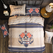 black and white star plaid forest Clouds 100% cotton twin queen king size duvet cover bed sheet pillowcase linen bedclothes