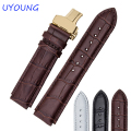 Quality Genuine Leather Watchband 22*18mm Classic crocodiling Mens Strap For HUAWEI Smart watch