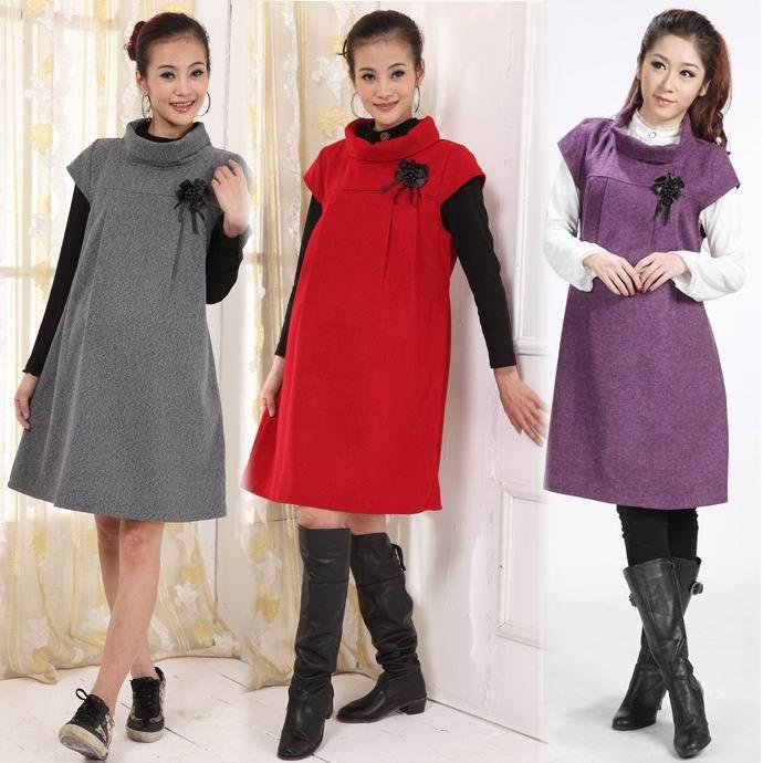 Платья для беременных зима-осень