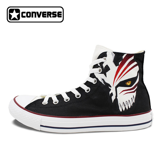 Anime Converse All Star Men Women Shoes Bleach Kurosaki Ichigo Design Hand  Painted Shoes High Top