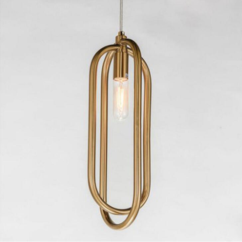 цена New post-modern personality creative ring LED project chandelier atmospheric living room bedroom restaurant hanging lamps led