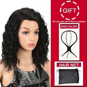 Image 2 - קסם שיער האפרו קינקי מתולתל פאות לנשים שחורות חום עמיד תחרה קדמי פאות Ombre חום 5 צבע בטמפרטורה גבוהה שיער