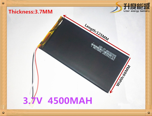 1pcs/lot  4500mah lithium polymer 3766125 4066125 3.7 V tablet battery V811 812 E708Q1 battery