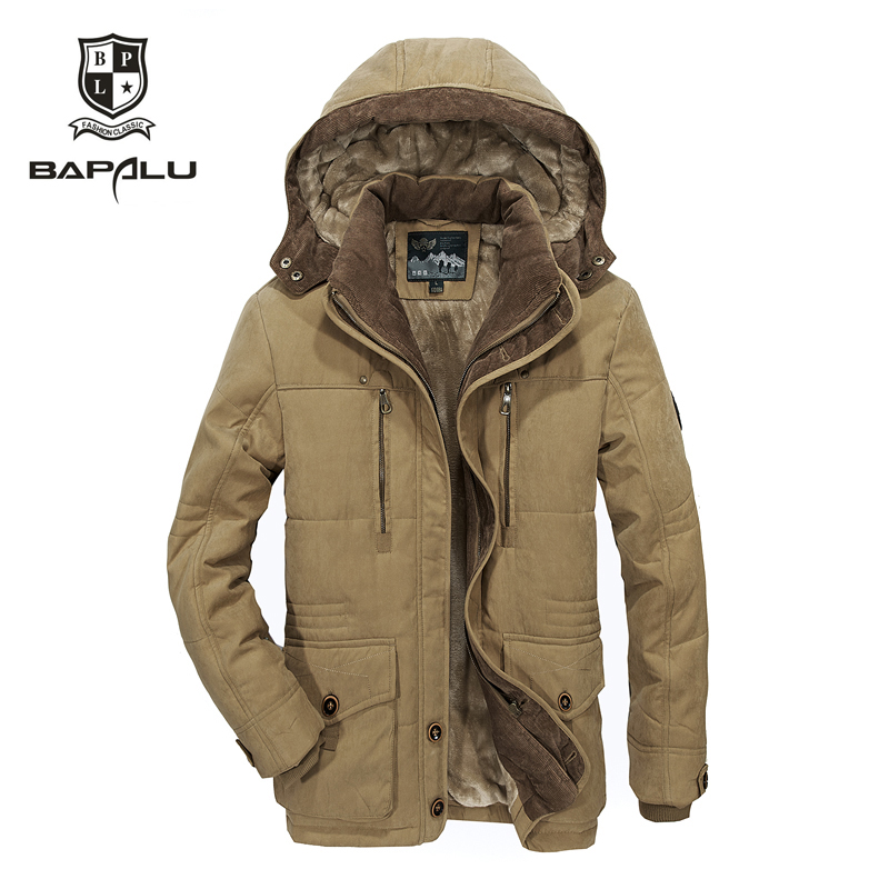 Winter Jacket Hooded Coat 5XL 6XL The Casual New 4XL Plus Age Thjck Middle Men Men's