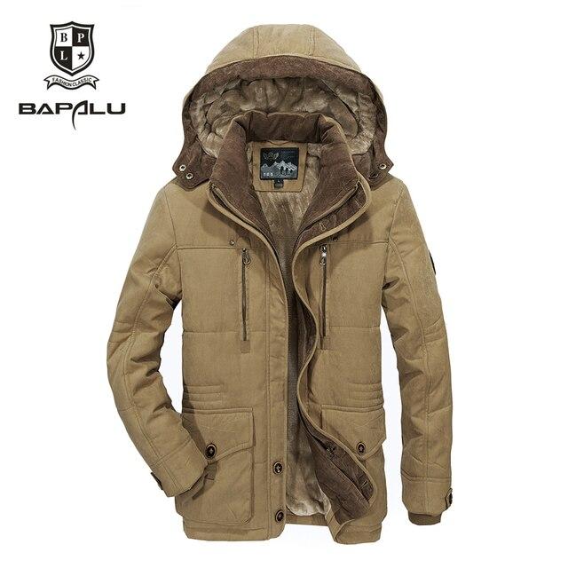 A nova jaqueta de inverno Homens de Meia idade Mais thjck quente casaco jaqueta com capuz casuais dos homens do revestimento do revestimento tamanho 4XL 5XL 6XL