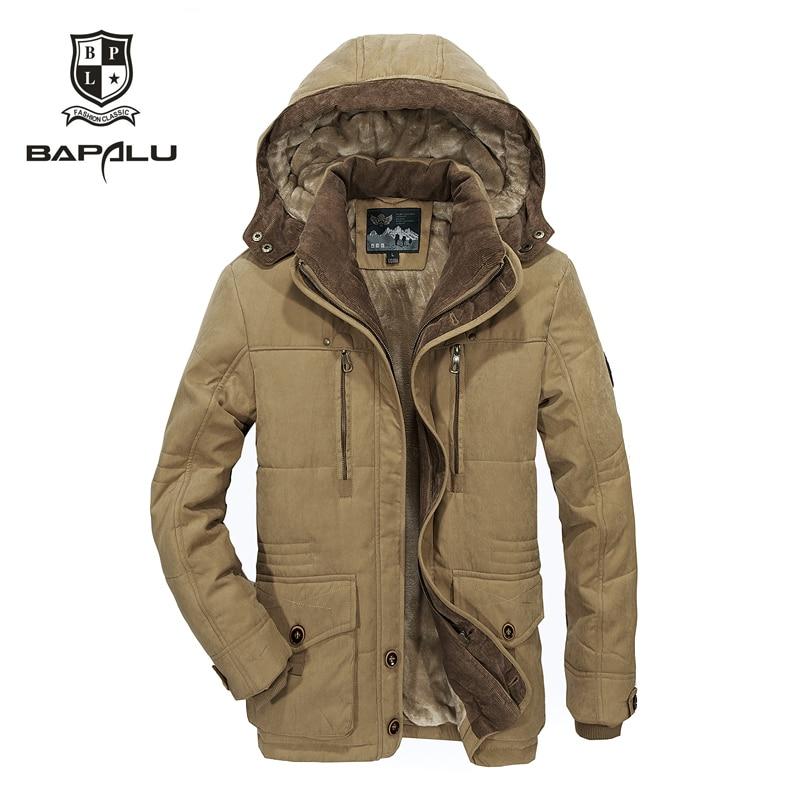 The new winter jacket Middle age Men Plus thjck warm coat jacket men's casual hooded coat jacket size 4XL 5XL 6XL