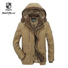 Новая зимняя куртка среднего возраста для мужчин плюс thjck теплое пальто куртка мужская повседневная куртка с капюшоном Размер 4XL 5XL 6XL