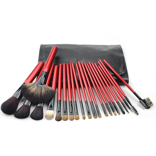 Pinceles de Maquillaje profesional Determinado 22 unids Cepillos de Cosméticos de Maquillaje En Polvo Fundación Cepillos Eyeliner Kit Set Maquillaje Herramienta de La Belleza