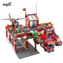 mylb New City Fire Station 774pcs/set Building Blocks DIY Ed