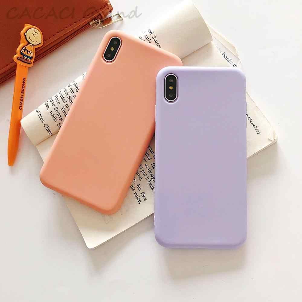 ใหม่เคสโทรศัพท์สำหรับ iphone 7 6 6s 8 Plus ซิลิโคนนุ่ม TPU สำหรับ iphone X กรณี Xr Xs MAX กรณีหรูหรา