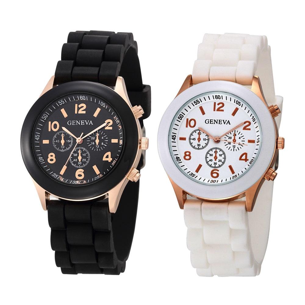 2020 New Watches Women Luxury Brand Fashion Casual Quartz Wristwatch Jelly Silicone Strap Lady Watch Relogio Feminino