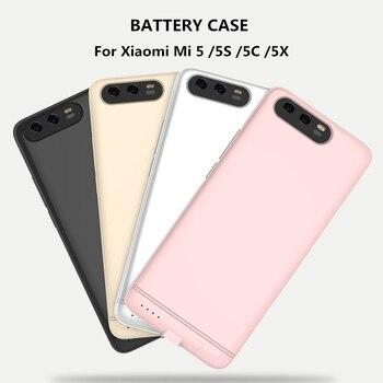 6000 mAh Ultra fino banco de energía batería cargador caso para Xiao mi 5 5S 5C 5X energía caja externa batería de reserva caso de carga