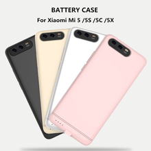 цена на 6000mAh Ultra Slim Backup Power Bank Battery Charger Cases For Xiaomi Mi 5 5S 5C 5X Power Case External Battery Charging Case