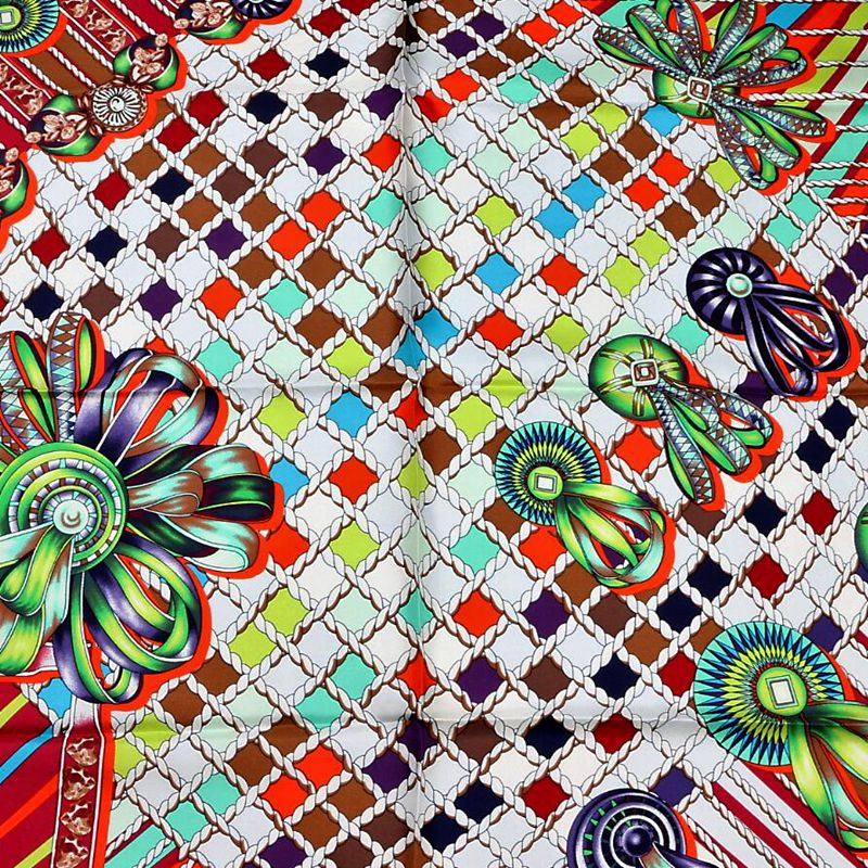 Image 5 - HANSCARF Square Silk Scarf Women 90*90cm Bandana Hijab 100% Silk Twill Scarves & Wraps Shawl Foulard 2017 New Fashion Printed-in Women's Scarves from Apparel Accessories