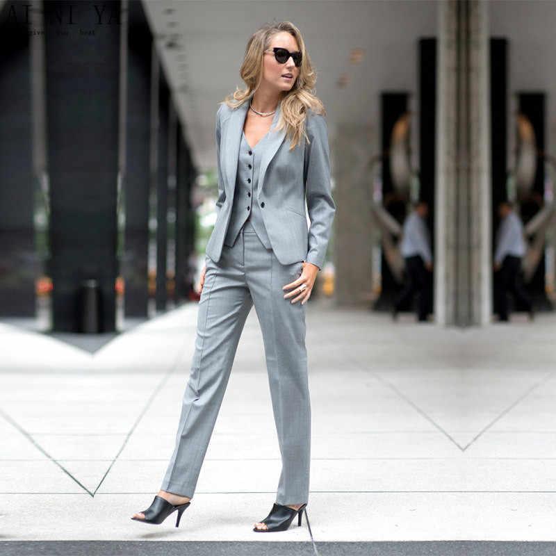 b98f101ddb3 ... Для женщин брючные костюмы для дамы индивидуальный заказ офисные пиджак  делового костюма + брюки жилет Новый ...