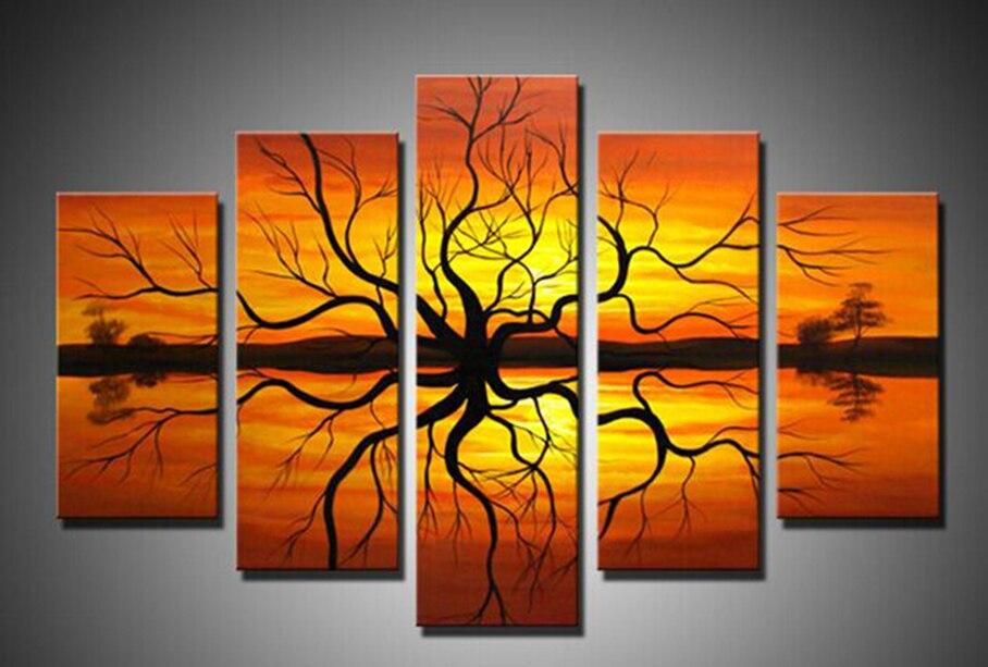 Parede Quadro Art 5 Pe 231 As Artesanais Pinturas Em Tela