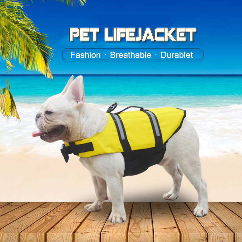 KIMHOME PET Small Dog Clothes Summer Safety Vests Reflective Dog Shirt Yorkshire Terrier Tshirt Dog Life Jacke Raincoat XXS-XXL