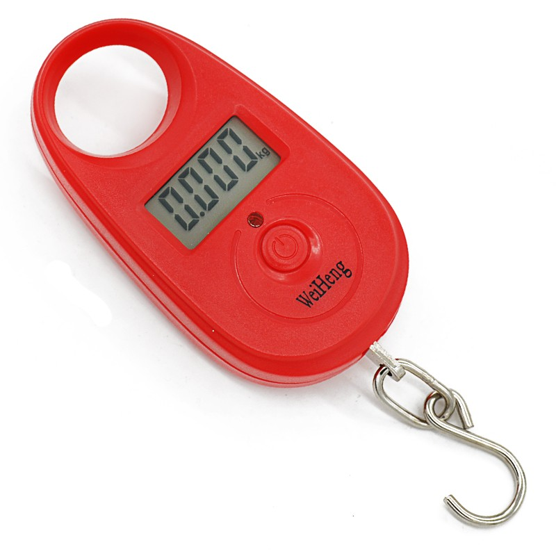 Mini Pocket Portable Scale LCD Digital Hanging Luggage Weighting Electronic Weight Fishing Hook Scales Pesca Carp Accessories