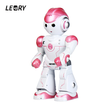 ФОТО leory rc robot cute intelligent programming remote control toy biped humanoid robot for children kids birthday gift present
