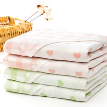 Cartoon Baby Blankets Newborn Muslin Cotton 5 Layers Swaddle Warp Blanket Infant Bedding Receiving