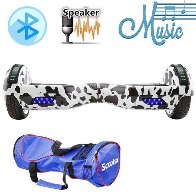 Smart Hoverboard Self-balancing 6.5 inch Two-wheel Electric Gyro Scooter Intelligent Hover board with Bluetooth Speakers