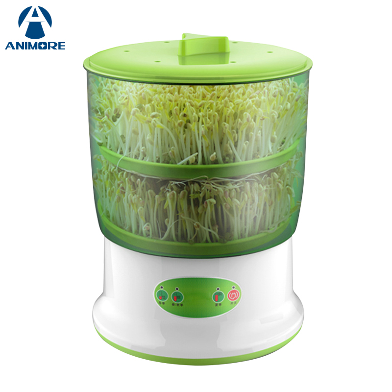 ANIMORE Bean Sprouts Maker Upgrade Large Capacity Thermostat Bean Sprout Machine Household Intelligent Automatic Sprout Machine vintage red rhinestone bean sprout brooch for women