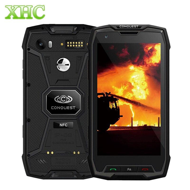 Conquista S9 6 GB + 128 GB do Smartphone 6000 mAh Fingerprint ID 5.5 polegada Android 7.1 Octa MTK6757 IP68 À Prova D' Água OTG NFC núcleo Celular