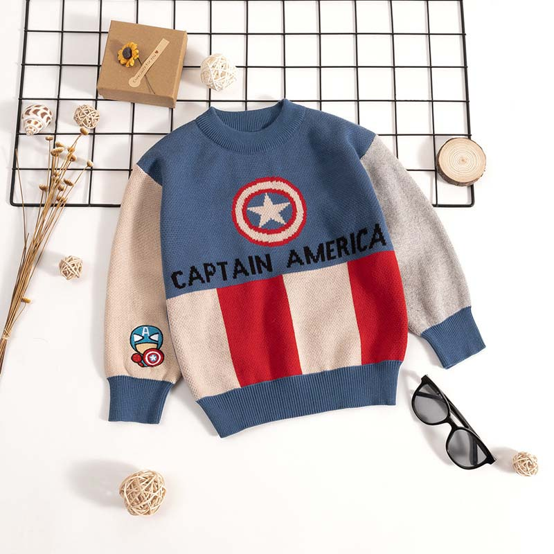 Kids Boys Cartoon Sweaters Casual Children Knit Autumn Warm Pullover Sweater For Boy Toddler Long Sleeve Wear Appliques Clothes 3