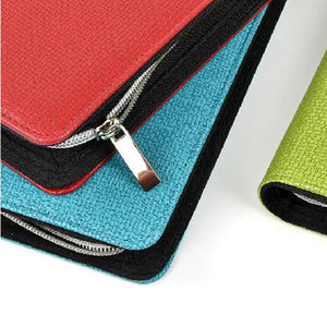 Image 3 - Logo Customized A5 & A6 Business Zip Bag Faux Leathe Planner Leather Notebook With Calculator Or Memo Pad For You To Choose