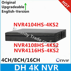 DH 4k NVR NVR4104HS-4KS2 4CH & NVR4108HS-4KS2 8CH & NVR4116HS-4KS2 16ch without POE Network Video Recorder