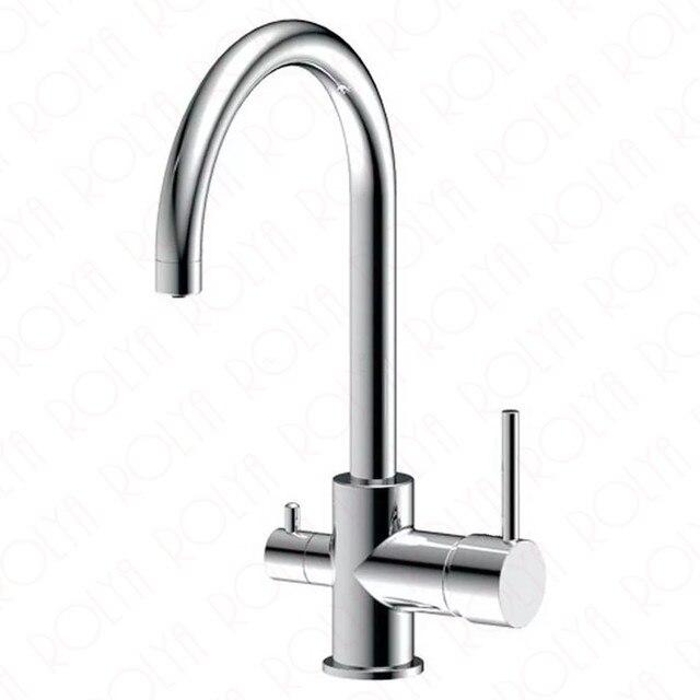 US $106.0  Verchromt Osmose Umge 3 in 1 Küche Wasserhahn Schwarz drei weg  sauber wasserfilter wasserhähne in Verchromt Osmose Umge 3 in 1 Küche ...