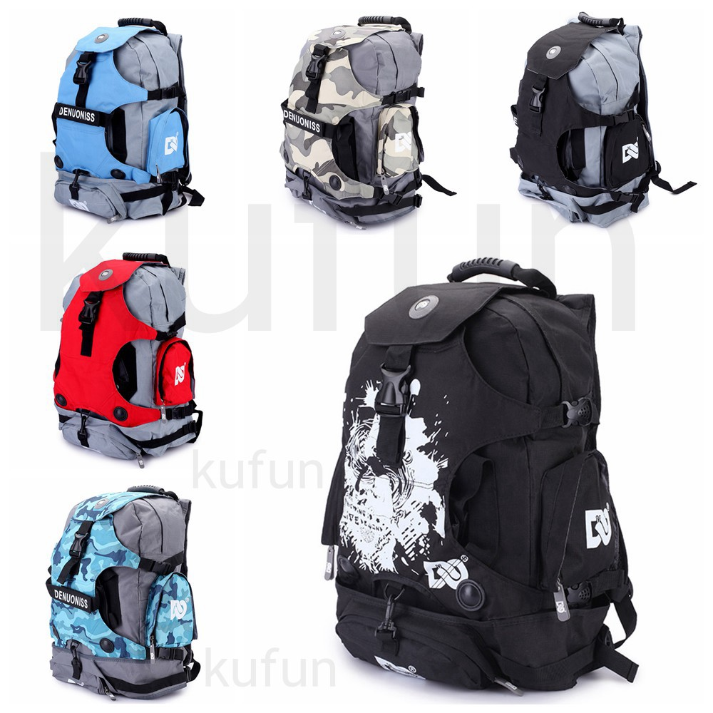 Kufun Inline Skating Backpack For Roller Skate Hiking Climbing Boots Bag Shoes Knapsack Skate Shoulder Pack Bag