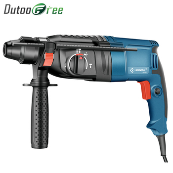 High Power 800W Electric Hammer Electric Drill Three Functions Household Impact Drill Multi-function Electric Pick Slotter japan makita hr2610 impact drill electric hamme electric pick 3 function power tools powerful 800w motor 4 600ipm 1 200rpm