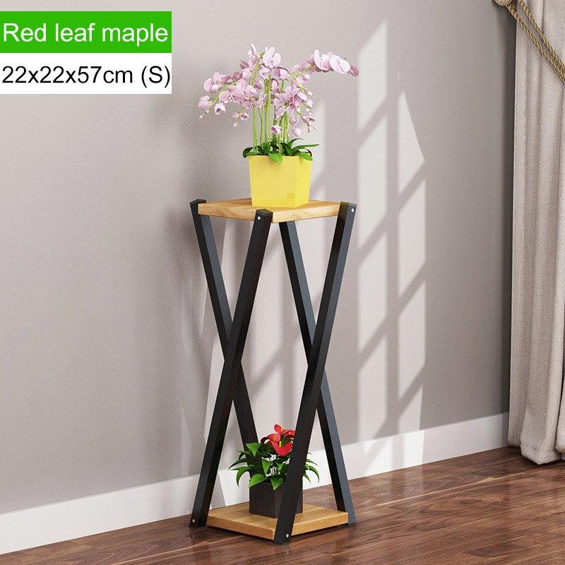 Многослойное платье с цветочным узором подставкой внутренние, из кованого железа балкон цветочный горшок стойки напольные Ящики для гостиной шкаф мебель для дома - Цвет: L168-S-brown