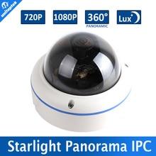 1.0MP/2MP POE Starlight Ip-камера 720 P/1080 P Открытый CCTV Купола, 0.0001Lux День и Ночь полный Цвет, 5MP Рыбий Глаз Объектив, 360 Градусов Вид