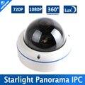 1.0MP/Starlight 2MP POE IP Cámara 720 P/1080 P CCTV Domo Al Aire Libre, 0.0001Lux Día y Noche a todo Color, 5MP, Lente Ojo de Pez de 360 Grados de Visión