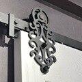 6.6ft королевская черная стальная раздвижная дверь сарая оборудование для межкомнатных дверей