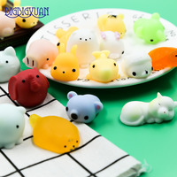 30pcs Cute Mini Soft Random Squishy Phone Straps Slow Rising Jumbo Squeeze Cute Panda Pig Strap
