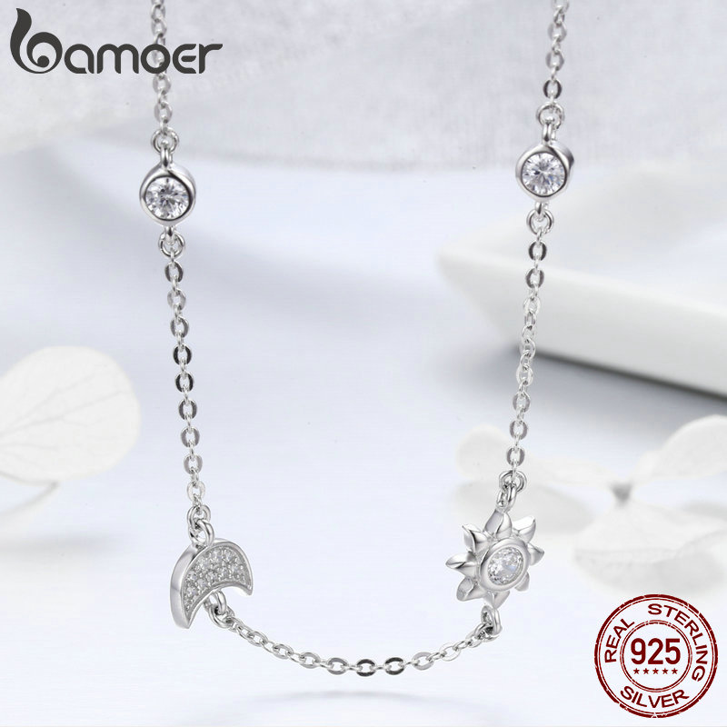 Mid Year Sales 925 Sterling Silver Sparkling Moon and Star Exquisite Pendant Necklaces for Women 925 Mid-Year Sales 925 Sterling Silver Sparkling Moon and Star Exquisite Pendant Necklaces for Women 925 Silver Jewelry Gift SCN272