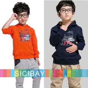 Autumn New Tops Kids Hoodies Boy Cool City Tops Girl Spring  Tomboy Tshirts Hooded Long Sleeve  C0275