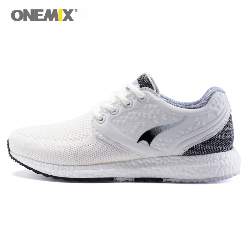 Onemix new lifestyle woman running shoes fitness breathable mesh women sport sneakers outdoor walking space PU lady kelme children white black smooth soccer shoes pu broken nail outdoor running sneakers k15s936