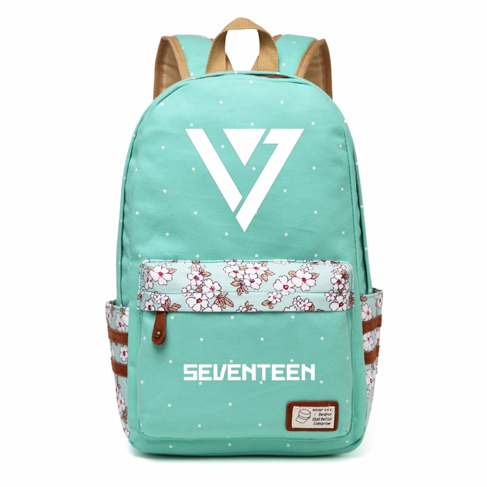 Men's Bags Wishot Seventeen 17 Backpack Canvas Bag Schoolbag Travel Shoulder Bag Rucksacks For Women Girls