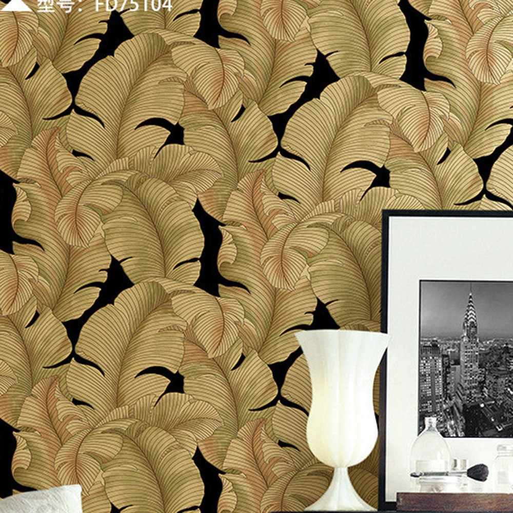 Suede Big Leaves Mural Wallpaper Roll Decor Background m style шкатулка leaves big