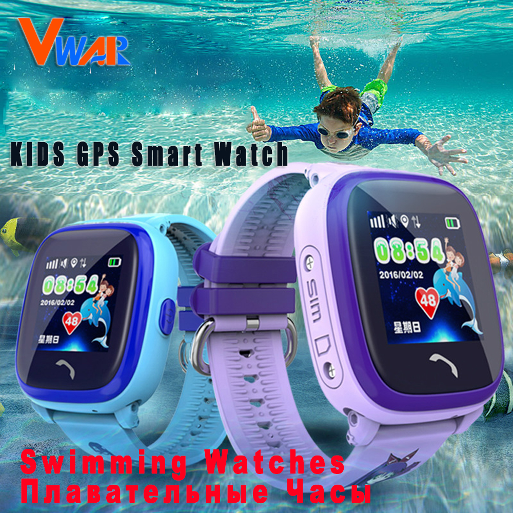 DF25 Kids Swimming Watch Child Smartwatch GPS touch phone smart watch SOS Call Location Device Tracker Safe Anti-Lost Monitor