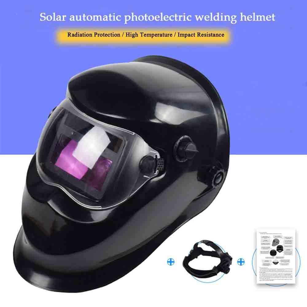Casque de soudage Automatique Remplacement De Soudage Masque Tête Bande Soudeur Masque De Soudage TIG Masque-110 Noir