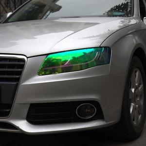 Image 3 - 120*30 см блестящий Хамелеон для стайлинга автомобиля, фары заднего вида, полупрозрачные пленочные огни, меняющие цвет, автомобильные наклейки на пленку