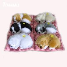 купить Car Ornament ABS Plush Dogs Decoration Simulation Sleeping Dog Toy Automotive Dashboard Decor Ornaments Cute Auto Accessories дешево