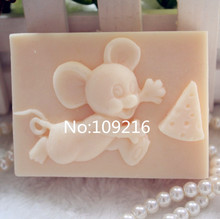 New Product!!1pcs Mickey and Cake (zx5211) Food Grade Silicone Handmade Soap Mold Crafts DIY Mould